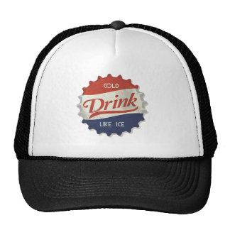 Drink Ice Cold Cola Bottle Cap Trucker Hats