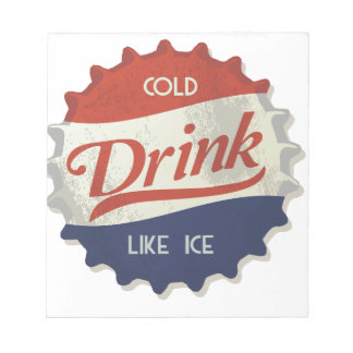 Drink Ice Cold Cola Bottle Cap Memo Notepads