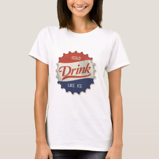 Drink Ice Cold Cola Bottle Cap T-Shirt