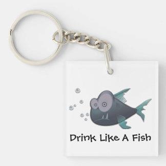 Drink Like A Fish Keychain
