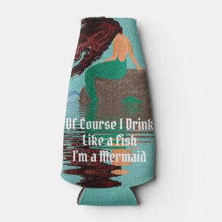 Drink Like A Fish Mermaid Bottle Cooler