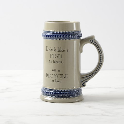 Drink like a Fish (or hipster) on a Bicycle Coffee Mugs