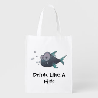 Drink Like A Fish Reusable Grocery Bag