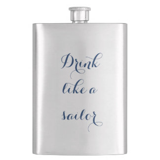 Drink Like a Sailor Hip Flask