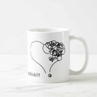Drink love! coffee mug