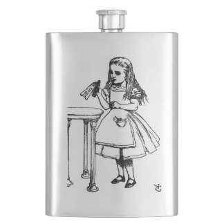 Drink Me Alice Flask