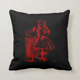 Drink Me (Alice) Throw Pillow