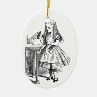 Drink Me Ceramic Ornament