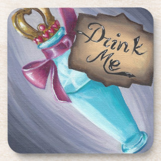 Drink Me Coaster Alice in Wonderland Coaster