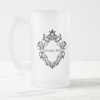 Drink Me! Frosted Glass Beer Mug