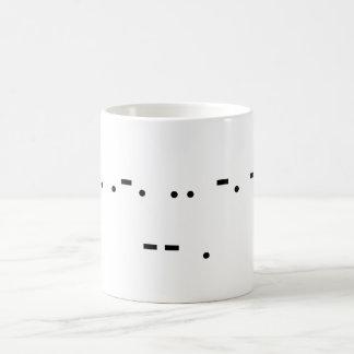 Drink Me (Morse) Coffee Mug