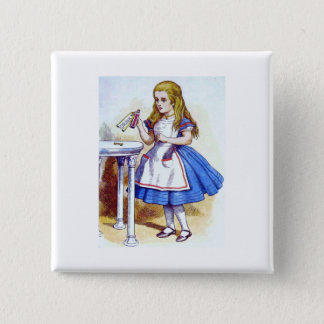 """Drink Me"" Potion with Alice 2 Inch Square Button"