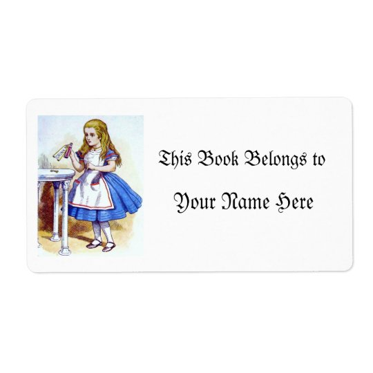 """""""Drink Me"""" Potion with Alice Shipping Label"""