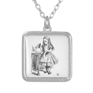 Drink Me Silver Plated Necklace