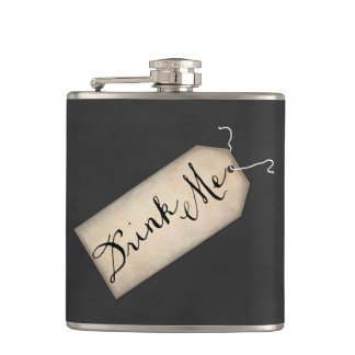 Drink Me Vintage Tag Flask