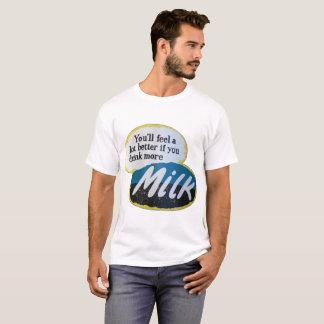 Drink milk poster T-Shirt