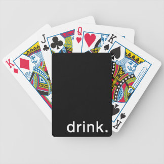 Drink Minimal Bicycle Playing Cards