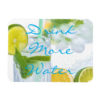 Drink More Water Rectangular Photo Magnet