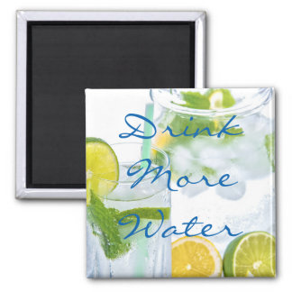Drink More Water Square Magnet