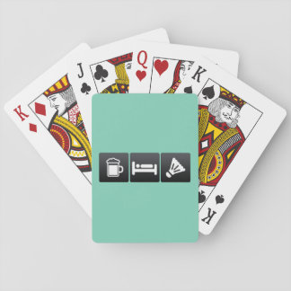 Drink, Sleep and badminton Playing Cards