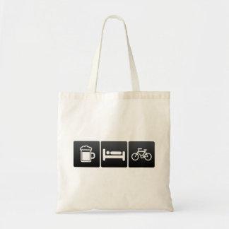 Drink, Sleep and Bicycle Riders Tote Bag