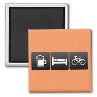 Drink, Sleep and Bicycles Magnet