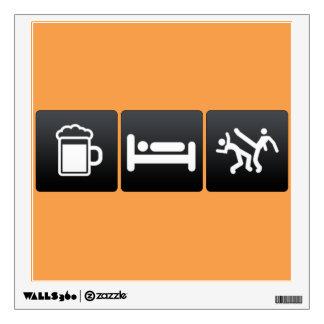 Drink, Sleep and capoeira Wall Decal