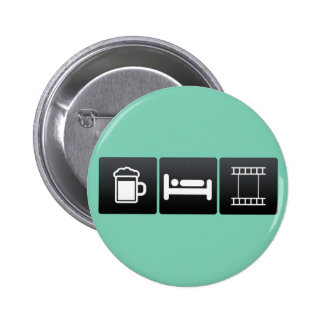 Drink, Sleep and Cinematography 2 Inch Round Button