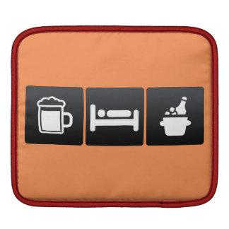Drink, Sleep and Cold Beer iPad Sleeve