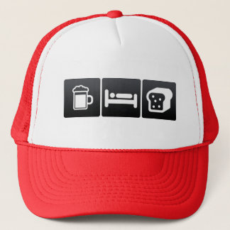 Drink, Sleep and Eating Bread Trucker Hat