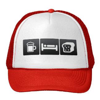 Drink, Sleep and Eating Bread Trucker Hat