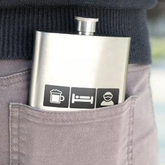 Drink, Sleep and Snow Boarding Flasks