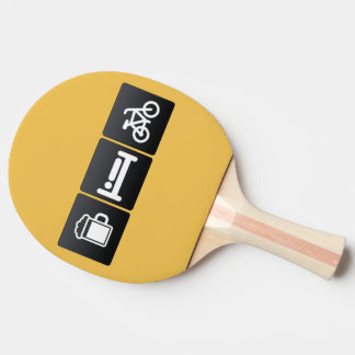 Drink, Sleep and Spinning Classes Ping Pong Paddle
