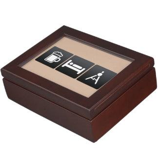 Drink, Sleep and Surveying Equipment Memory Box
