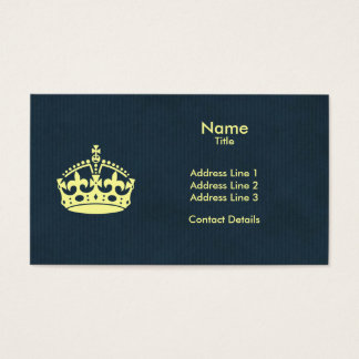 Drink Tea and Carry On Blue Natural Kraft Paper Business Card