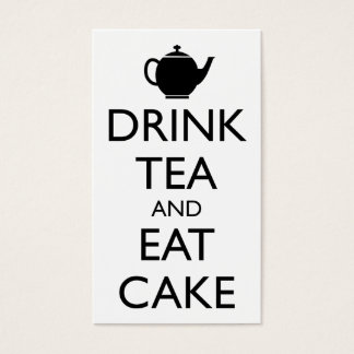 DRINK TEA AND EAT CAKE BUSINESS CARD