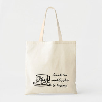 Drink Tea Read Books Book Tote