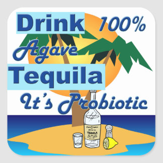 Drink Tequila #2 Square Sticker