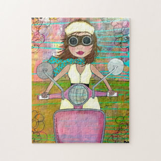 """""""Drink the Wild Air"""" Pink Scooter Puzzle"""