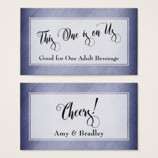 Drink Tickets | Script & Rustic Diagonal Purple
