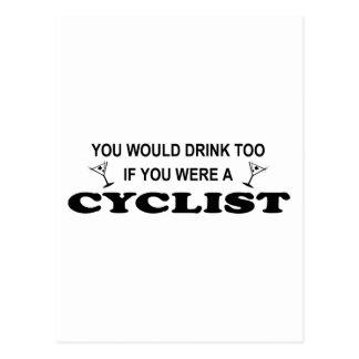 Drink Too - Cyclist Postcard