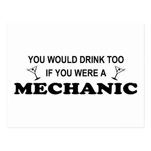 Drink Too - Mechanic Postcards