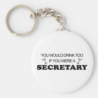 Drink Too - Secretary Keychain