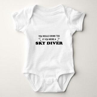 Drink Too - Sky Diver Baby Bodysuit