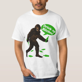 Drink Up Bigfoot St Pattys Day Sasquatch T-Shirt