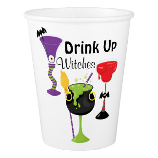 Drink Up Witches Paper Cup
