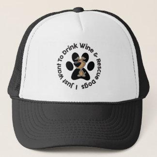 Drink Wine n' Rescue Dogs Trucker Hat