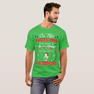 Drink Wine Pet Bloodhound Christmas Ugly Sweater