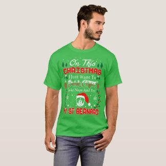Drink Wine Pet St Bernard Christmas Ugly Sweater