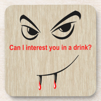 Drink With a Vampire Coasters